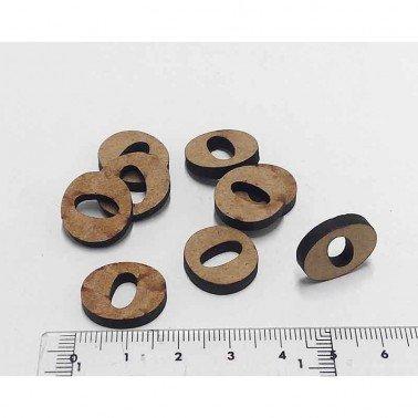 Mini letra O, 1.5 cm DM
