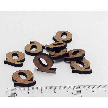 Mini letra Q, 1.5 cm DM