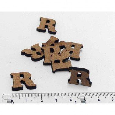 Mini letra R, 1.5 cm DM