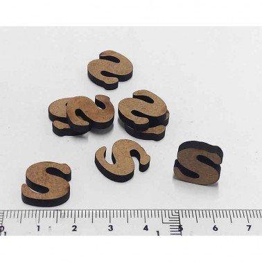 Mini letra S, 1.5 cm DM