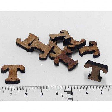 Mini letra T, 1.5 cm DM