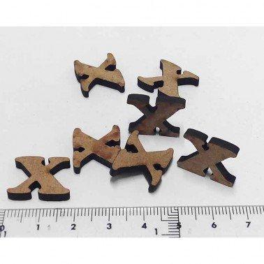 Mini letra X, 1.5 cm DM
