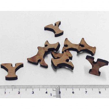 Mini letra Y, 1.5 cm DM