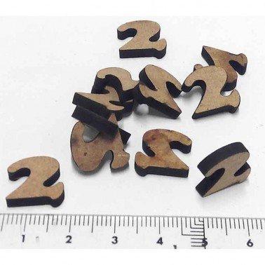 Mini Número 2, 1.5 cm DM