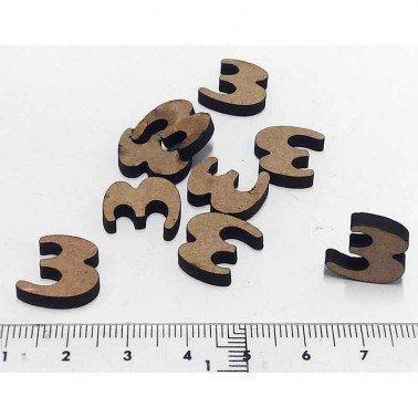 Mini Número 3, 1.5 cm DM