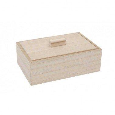 Caja de madera 18x12x6 cm