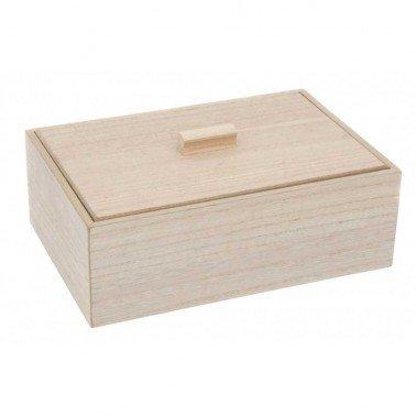 Caja de madera 22x15x7.5cm