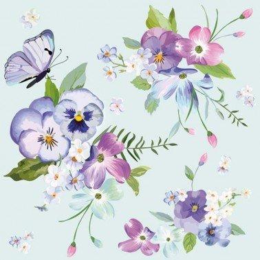 Servilletas para decoupage Spring Flowers on 33 X 33 cm.