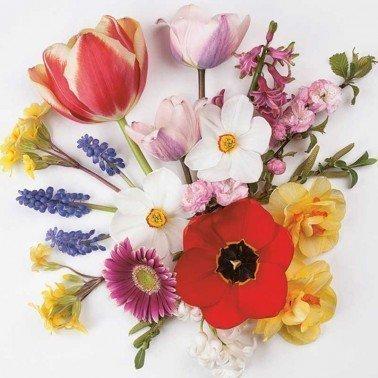 Servilletas para decoupage Spring Flowers from 33 X 33 cm.