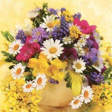 Servilletas para decoupage Bouquet of Colourful Flowers 33 X 33 cm.