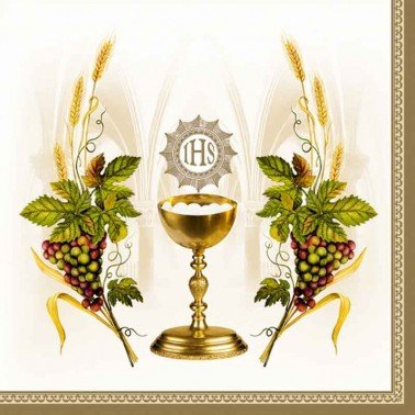 Servilletas para decoupage Chalice with Grapes 33 X 33 cm.