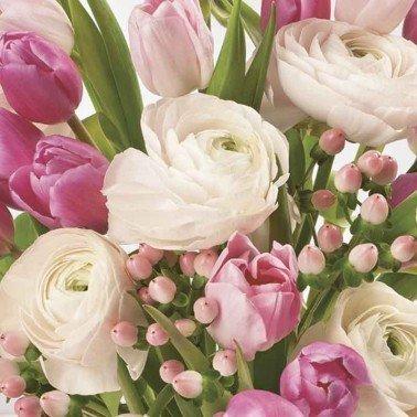 Servilletas para decoupage Pastel Pink Flowers 33 X 33 cm.