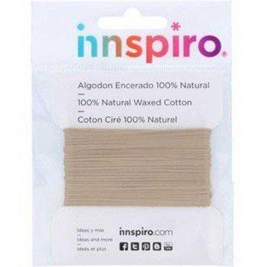 Cordón algodón encerado fino arena 0,5mm. 5m.