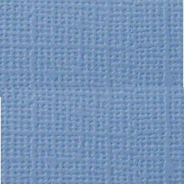 "Cartulina textura lienzo AZUL CLARO 12x12"" 216 gr."