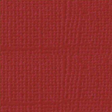 "Cartulina textura lienzo GROSELLA 12x12"" 216 gr."