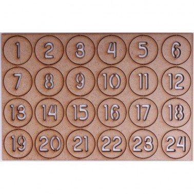 Juego de números CALENDARIO ADVIENTO 18,5X12 cm.