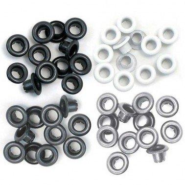 Standard Eyelets/ Ojales aluminio WR, GRIS 5 mm.
