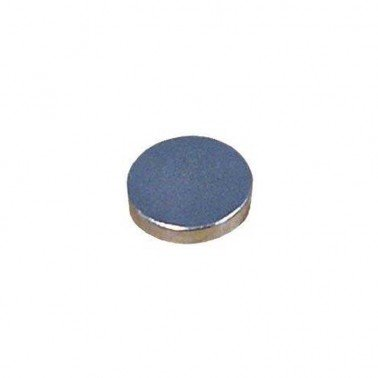 Imán plateado disco, 10x2 mm.