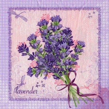 Servilletas para decoupage Bunch of Lavender 20 unidades 33 X 33 cm. SLOG 0294 01