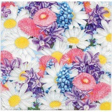 Servilletas para decoupage Fresh Spring Flowers 33 X 33 cm. SDWI 0049 01