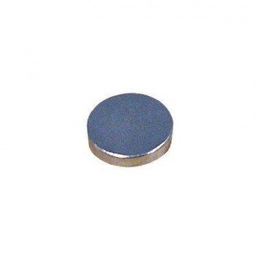 Imán plateado disco, 10x1 mm.