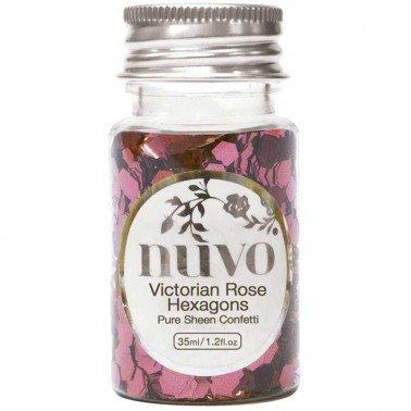 Bote Confetti Victorian Rose Hexagons de Nuvo, 35ml