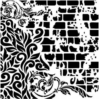 Plantilla Stencil GRUNGE MIDI GCSS005 CADENCE 25x25 cm.