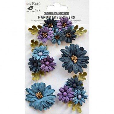 Flores de papel Handmade Flowers - FAIRY GARDEN PURPLE PASSION.