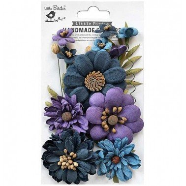 Flores de papel Handmade Flowers - HELEEN PURPLE PASSION.