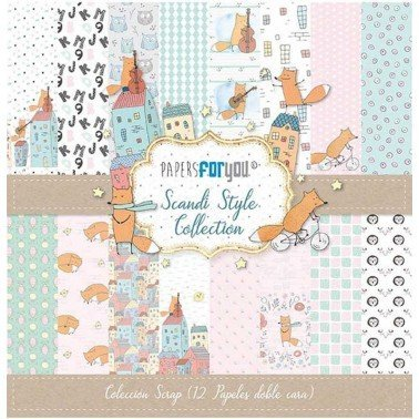COLECCIÓN 12 PAPELES SCRAP SCARDI STYLE PAPERS FOR YOU