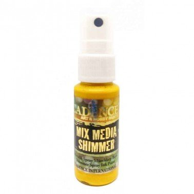 SPRAY MIXMEDIA SHIMMER Amarillo CADENCE 25 ml.