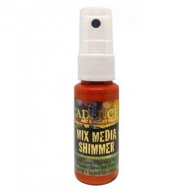 SPRAY MIXMEDIA SHIMMER Naranja CADENCE 25 ml.