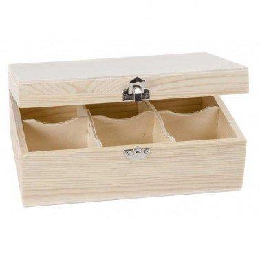 Caja Té 6 Divisiones 22x15x9 cm
