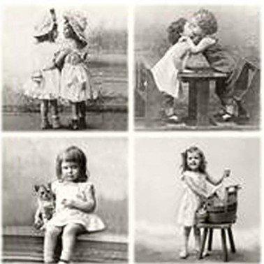 Servilletas para decoupage VINTAGE HAPPY CHILDREN 33 X 33 cm.