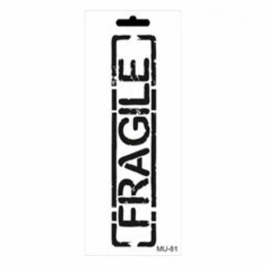 Stencil mix media FRAGILE CADENCE 10 x 25 cm.
