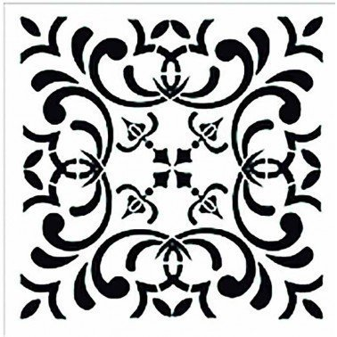 Plantilla Stencil TILE TCS011 CADENCE 30x30 cm.