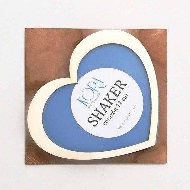 Shaker corazón 12 x 9 cm. Kora Projects.