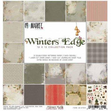 Colección papel de scrap 49&Market WINTERS EDGE 30x30 cm.