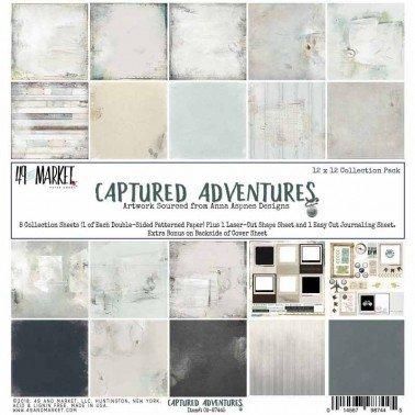 Colección papel de scrap 49&Market CAPTURED ADVENTURE 30x30 cm.