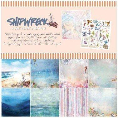 Colección papel de scrap 49&Market SHIPWRECK Mini 30x30 cm.