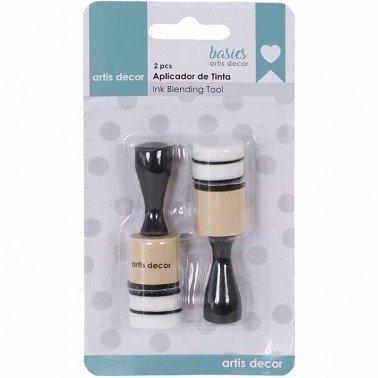 Set 2 mini aplicadores tinta redondos con esponja ARTIS DECOR