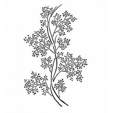 Stencil VEGETAL BN175 Cadence, 25x36 cm.