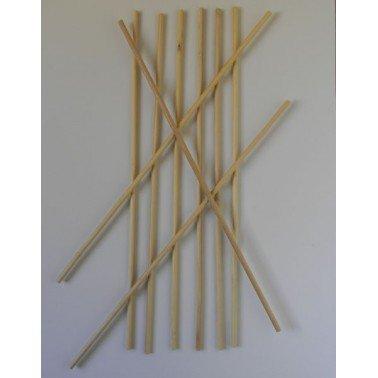 Pinchos redondos de madera.