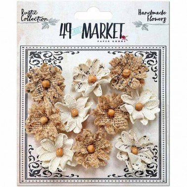 Flores de Papel Rustic Canvas-Burlap Small Blooms 49&MARKET