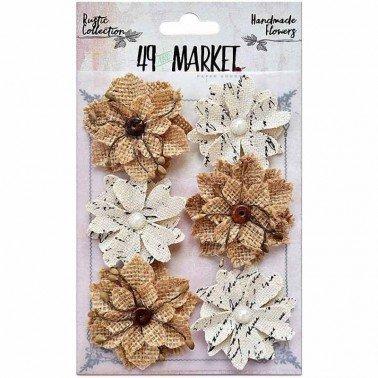 Flores de Papel Rustic Canvas-Burlap Medium Blooms 49&MARKET