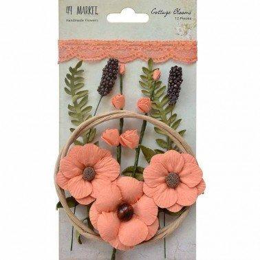 Flores de Papel Cottage Blooms Canteloupe 49&MARKET