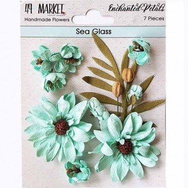 Flores de Papel Enchanted Petals Sea Glass 49&MARKET