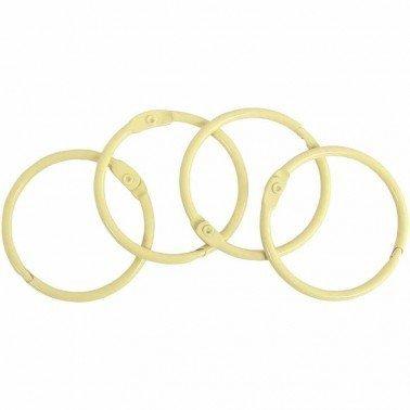 Set 4 anillas encuadernación metálicas ARTIS DECOR 35mm. BEIGE