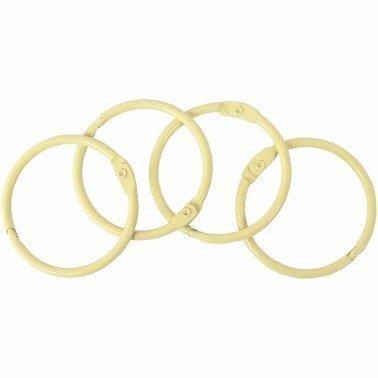 Set 4 anillas encuadernación metálicas ARTIS DECOR 44mm. BEIGE