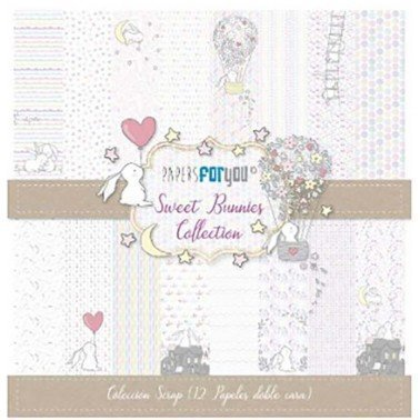 COLECCIÓN 12 PAPELES SCRAP SWEET BUNNIES PAPERS FOR YOU